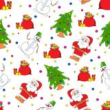 Seamless christmas patern. Cartoon backgrounds Royalty Free Stock Photography
