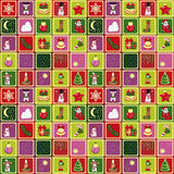 Seamless christmas pattern. Illustration for your design Royalty Free Stock Photos