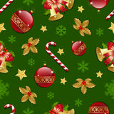 Seamless Christmas pattern Stock Image