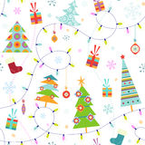 Seamless christmas pattern Royalty Free Stock Photo