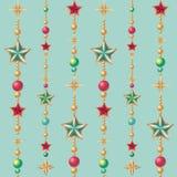 Seamless Christmas pattern. Seamless stars Christmas pattern background Stock Photo