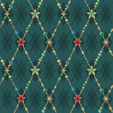 Seamless Christmas pattern. Seamless stars Christmas pattern background Royalty Free Stock Photos
