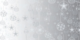 Seamless christmas pattern with balls Stock Photography