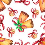 Seamless Christmas pattern with bell royalty free illustration