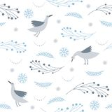 Seamless pattern, seasons greetings, stock illustration