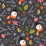 Seamless Christmas pattern Stock Image