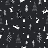 Seamless Christmas pattern, Royalty Free Stock Images