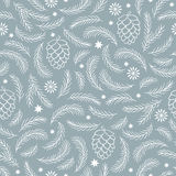 Seamless Christmas pattern, Royalty Free Stock Photos