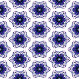 Seamless christmas pattern with blue stars Royalty Free Stock Photography