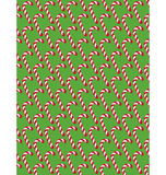 Seamless Christmas Pattern with Candy Cane Stick  on Gre Stock Photos
