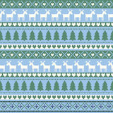 Seamless Christmas pattern, card - Scandinavian sweater style. Stock Image