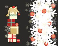 Seamless christmas pattern with cats Royalty Free Stock Photos