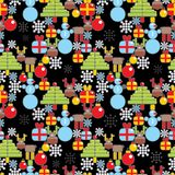 Seamless Christmas pattern in cell. Stock Photography