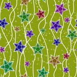 Seamless christmas pattern with christmas stars Royalty Free Stock Photo