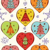 Seamless christmas pattern with decorations Stock Image