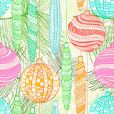 Seamless Christmas pattern with decorative balls Royalty Free Stock Image