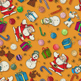 Seamless Christmas pattern design Royalty Free Stock Photography