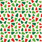 Seamless Christmas Pattern with Evergreen Trees   Stock Images