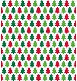 Seamless Christmas Pattern with Evergreen Trees  on Whit Royalty Free Stock Images
