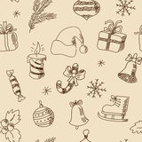 Seamless Christmas pattern with festive elements. Seamless Christmas pattern with a festive elements Royalty Free Stock Images