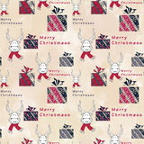 Seamless Christmas pattern. Stock Photo