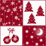 Seamless Christmas pattern. for gift wrapping, napkins, tablecloths .patchwork. Stock Photography