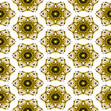 Seamless christmas pattern with gold stars Stock Photos
