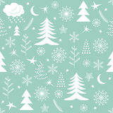 Seamless Christmas pattern green Royalty Free Stock Image