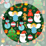 Seamless Christmas pattern greeting card winter holiday. Royalty Free Stock Images