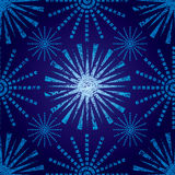 Seamless Christmas pattern with grunge snowflakes stock illustration