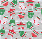 Seamless Christmas pattern. Royalty Free Stock Photo