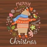 Seamless Christmas pattern, Royalty Free Stock Photo