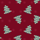 Seamless Christmas pattern - Illustration Stock Photography