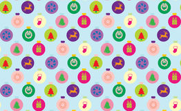 Seamless christmas pattern. In multicolour Royalty Free Stock Image