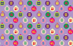 Seamless christmas pattern. In multicolour Stock Images