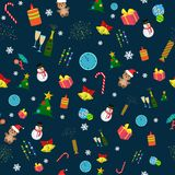 Seamless christmas pattern royalty free illustration