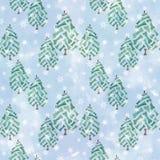 Seamless Christmas pattern. Stock Photos