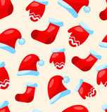 Seamless Christmas pattern part Santa costume Stock Photography