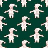 Seamless Christmas pattern with Santa Claus Royalty Free Stock Photos