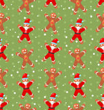 Seamless Christmas pattern with Santa Claus snow Royalty Free Stock Image
