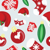 Seamless christmas pattern with santa hat Stock Photography