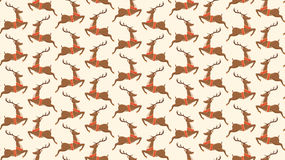 Seamless Christmas Pattern with Santa Reindeers  Stock Images