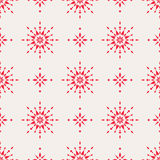 Seamless christmas pattern with scandinavian ornaments Royalty Free Stock Photography