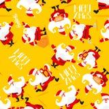 Seamless Christmas pattern stock illustration