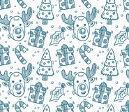 Seamless christmas pattern. Vector art Stock Photography