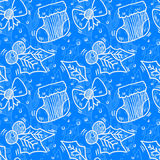 Seamless christmas pattern. Vector art Royalty Free Stock Images