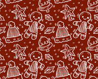 Seamless christmas pattern. Vector art Royalty Free Stock Image