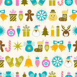 Seamless Christmas pattern. With simbols Royalty Free Stock Images