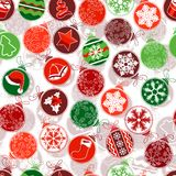 Seamless Christmas pattern with simple contour Stock Image