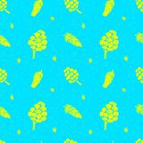 Seamless christmas pattern sketches of natural elements. Vector Royalty Free Stock Image